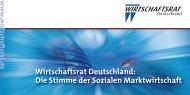 Wirtschaftsrat Deutschland: Die Stimme der Sozialen Marktwirtschaft