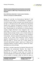 Online-Handel im B2B: Neue Verkaufschancen ... - Prisma Informatik