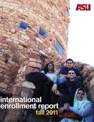 international enrollment report - ASU International - Arizona State ...