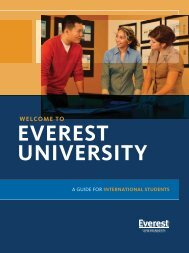 WELCOME TO - Everest College