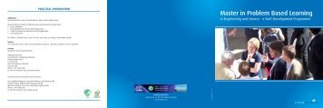 contents - Master in Problem Based Learning in Engineering and ...
