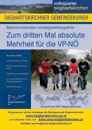 Ausgabe 1/2013 - ÖVP Sieghartskirchen