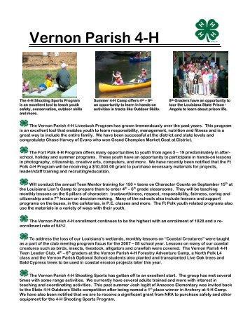 Vernon Parish 4-H