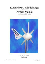 Product manual - Solar & Wind Store Entrance