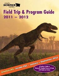 Field Trip & Program Guide - Catawba Science Center
