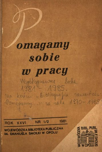 omagamg w pracy - Bibliotekarz Opolski