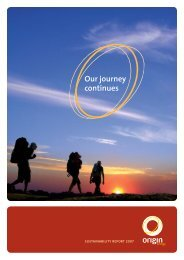 Our journey continues - Origin Energy