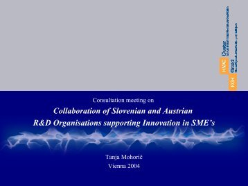 Collaboration of Slovenian and Austrian R&D Organisations ... - ACR