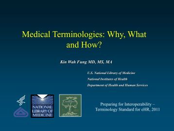 Medical Terminologies - Electronic Health Record Office