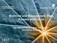 LTH presentation July 2010 - Centre for Innovation in Health ...