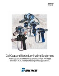 Gel Coat and Resin Laminating Equipment - CH Reed Inc.