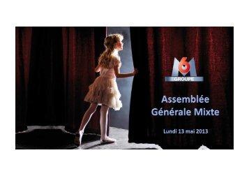 Présentation AG 2013 v2 [Mode de compatibilité] - Groupe M6