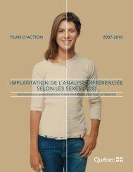 Plan d'action 2007-2010 - Secrétariat à la condition féminine ...