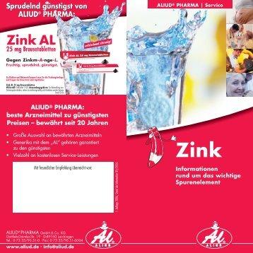Zink AL 25 mg Brausetabletten - Aliud Pharma GmbH & Co. KG