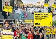 Rapport d'activité - Amnesty International Schweiz