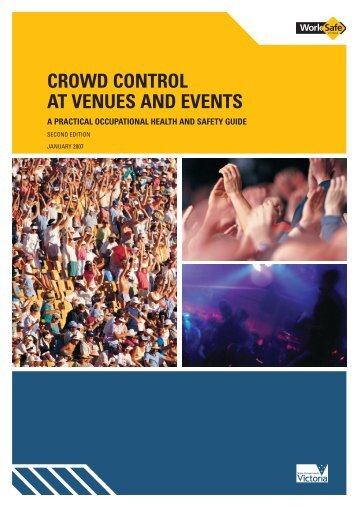 Crowd Control At Venues And Events (PDF ... - WorkSafe Victoria