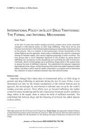 international policy on illicit drug trafficking - Journal of Drug Issues