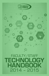 Faculty / Staff Technology Handbook - Winthrop University