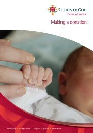 donations brochure - St John of God Health Care