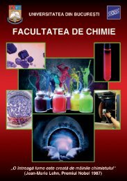 UNIVERSITATEA DIN BUCUREªTI Facultatea de Chimie - CIOCP