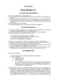 gibts die Satzung als PDF zum Download. - Brose Baskets
