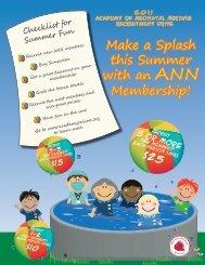 Make a Splash this Summer with an ANN Membership!