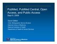 NIH Public Access-PubMed, PubMed Central, Open Access, and ...