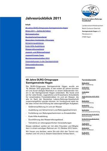 Jahresrückblick 2011 - DLRG Ortsgruppe Samtgemeinde Hagen e.V.
