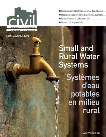 2012 Winter issue vol 29.5 - CSCE • Canadian Society for Civil ...