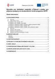Návodka pro dokládání materiálů k Žádosti o platbu ... - CzechInvest
