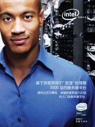 基于双核英特尔® 至强® 处理器3000 型的服务器平台