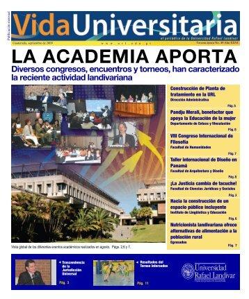 LA ACADEMIA APORTA - Universidad Rafael Landívar