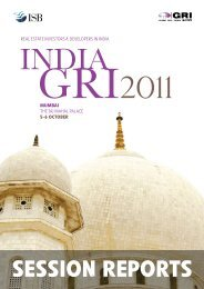 SESSION REPORTS - Global Real Estate Institute