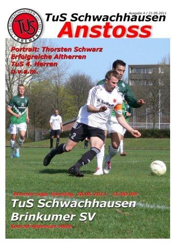 Herausgeber: TuS Schwachhausen von 1883 eV – Fußballabteilung
