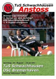 Download ANSTOSS August 2011 - beim TuS Schwachhausen