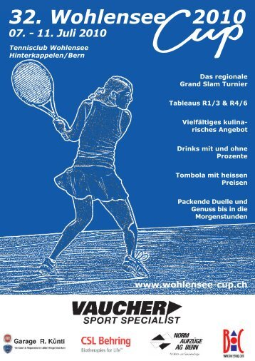 031 926 62 11 E-Mail: info@naag.ch Internet ... - Wohlensee-Cup