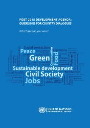 Guidelines for Country Dialogues - UNDG