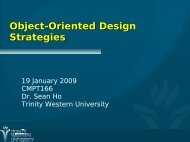 Object-Oriented Design Strategies