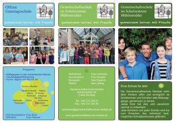 Flyer - Gemeinschaftsschule Reinbek