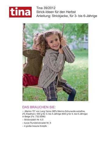 Tina 39/2012 Strick-Ideen für den Herbst Anleitung ... - Wunderweib
