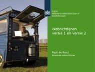 Webrichtlijnen vertsie 1 en versie 2 - Forum Standaardisatie