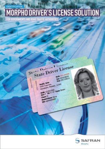 Morpho driver'S licenSe Solution