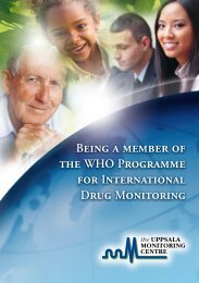 Being a member of the WHO Programme for International Drug ...