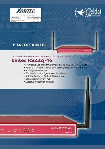 Datenblatt bintec RS232j-4G - Xortec.de