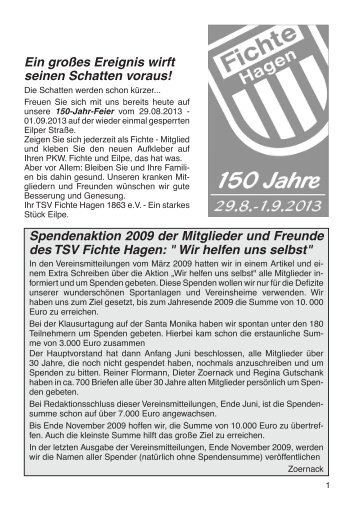 Ein großes Ereignis wirft seinen Schatten voraus! - TSV Fichte ...