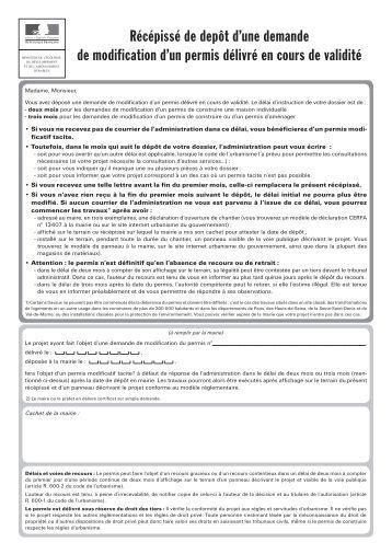 Modification permis g modification permis g modification for Permis de construire pergola