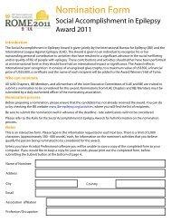 Nomination Form - International Bureau for Epilepsy