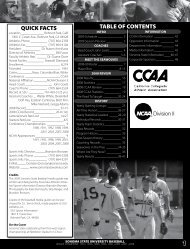 quick facts table of contents - Sonoma State University Athletics