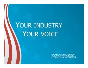 YOUR INDUSTRY YOUR VOICE - OIPA