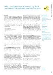 HONEY – Grundlagen für die Analyse und ... - edacentrum
